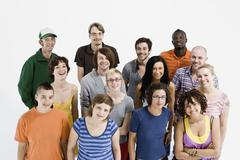 Portrait of a group of men and women standing together - stock photo
