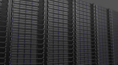 active server wall loop tracking movement - stock footage