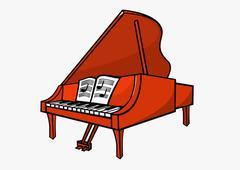 A grand piano Stock Illustration