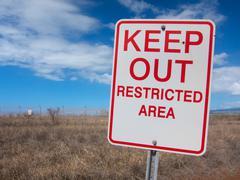 Keep Out Kirjaudu Kuvituskuvat