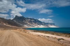 sand dunes of archer, socotra island, yemen - stock photo