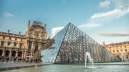 Stock Video Footage of Louvre