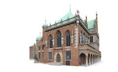 Bremen city hall 2 Stock Illustration