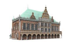 bremen city hall 4 - stock illustration