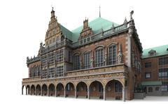 Bremen city hall 5 Stock Illustration