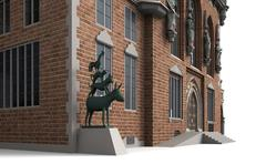 Bremen city hall 7 Stock Illustration