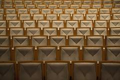 Rows of seats in an auditorium Stock Photos