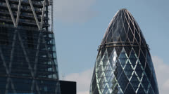 Stock Video Footage of gherkin building london england financial center business skyline