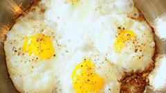 Nutritious Eggs Cooking Part Traditional Breakfast - stock footage