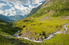 Norway landscape near geirangerfjord Stock Photos