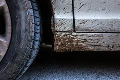 tyre detail - stock photo