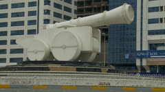 Abu Dhabi cannon in street Stock Footage