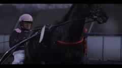 JOCKEY ON HORSE - HARNESS RACING #4 Stock Footage