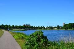 To the city of kalmar, sweden Stock Photos