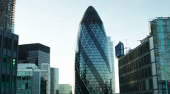 gherkin building london england financial center business - stock footage