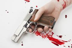 Käsi ase ampui verta Kuvituskuvat