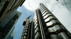 Lloyds building london england financial center business Stock Footage