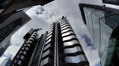 Stock Video Footage of lloyds building london england financial center business
