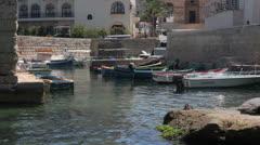 Maltese impressions - Budgiba harbor Stock Footage