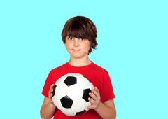 Adorable boy with a ball Stock Photos