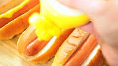 Traditional American Hot Dog Snack Food Stock Footage