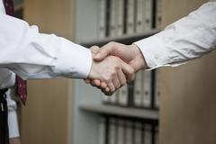 The business handshake Stock Photos
