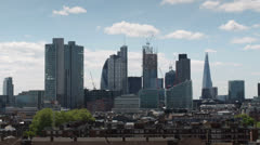London skyline financial center business england Stock Footage