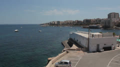 Maltese impressions - Budgiba panorama Stock Footage