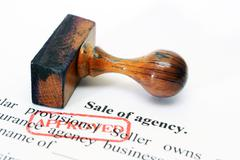 Sale of agency - approved Stock Illustration