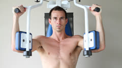 Bare Chest Exercises - stock footage