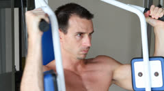 Bare Chest Exercising Stock Footage