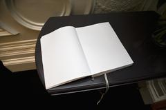 An open blank guest book Stock Photos