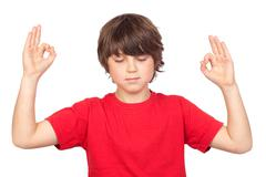 Rento lapsi joogan Kuvituskuvat