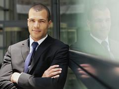 Portrait of a confident businessman Stock Photos