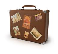 old suitcase - stock illustration