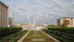 Brussels Cityscape from Hill of Arts TL A Stock Footage