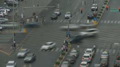 Aerial shot liikennettä Abu Dhabi nopeutettava Arkistovideo