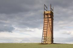 A chimney with a ladder Stock Photos