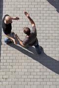 Two men arguing Stock Photos