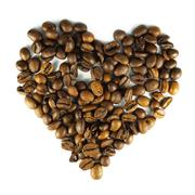 cofee heart - stock illustration