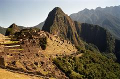 The ruins of Machu Picchu, Peru, Latin America - stock photo