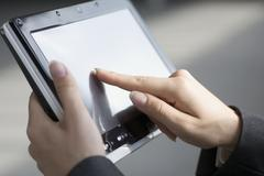 Close-up of tablet computer Stock Photos