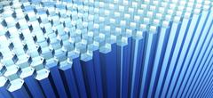 Rows of hexagon shaped rods Stock Illustration