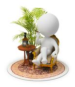 3d small people - luxury - stock illustration