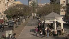 Rotshild BLV Tel Aviv Day Stock Footage