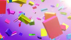 Falling colored sale bags Stock Footage