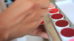 Beautiful decorative cosmetics - stock footage