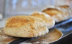 baked bread - stock photo