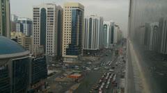 Rush hour in Abu Dhabi Stock Footage