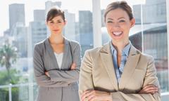 Stock Photo of Two smiling businesswomen